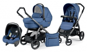 Детская коляска 3 в 1 Peg-Perego Book Plus S Sportivo Set Modular (шасси Jet) Mod Bluette