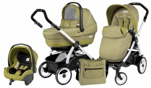 Коляска 3 в 1 Peg-Perego Book Plus 51 Set Modular Pop Up (шасси White) Green Tea