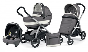 Коляска 3 в 1 Peg-Perego Book Plus Set Modular Pop-Up (шасси Silver) Ascot