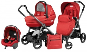 Коляска 3 в 1 Peg-Perego Book Plus S Set Modular Pop Up (шасси Jet) Sunset