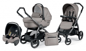 Детская коляска 3 в 1 Peg-Perego Book Plus S Sportivo Set Modular (шасси Jet) Mod Beige