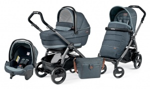 Коляска 3 в 1 Peg-Perego Book Plus 51 Pop Up Set Modular (шасси Jet) Blue Denim