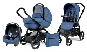 Коляска 3 в 1 Peg-Perego Book Plus Set Modular Sportivo (шасси Black) Mod Bluette