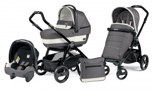 Коляска 3 в 1 Peg-Perego Book Plus Set Modular Pop-Up (шасси Black) Ascot
