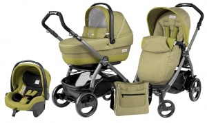 Коляска 3 в 1 Peg-Perego Book Plus 51 Pop Up Set Modular (шасси Jet) Green Tea