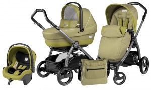 Коляска 3 в 1 Peg-Perego Book Plus S Set Modular Pop Up (шасси Jet) Green Tea