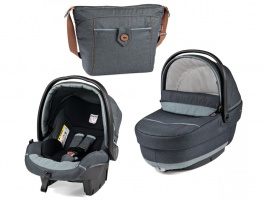 Коляска 3 в 1 Peg-Perego Set Modular Blue denim