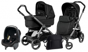 Коляска 3 в 1 Peg-Perego Book Plus 51 Pop Up Set Modular (шасси Jet) Onyx