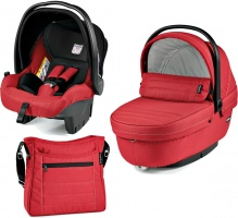 Коляска 3 в 1 Peg-Perego Set Modular Mod red