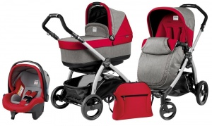 Коляска 3 в 1 Peg-Perego Book Plus Set Modular Pop-Up (шасси Silver) Tulip