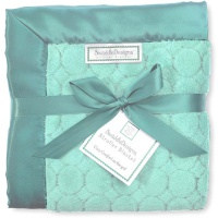 Детский плед SwaddleDesigns Stroller Blanket Turquoise Puff C