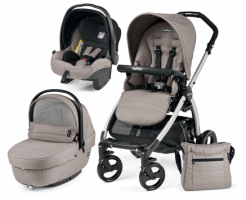 Коляска 3 в 1 Peg-Perego Book Plus Set Modular Sportivo (шасси Silver) Mod Beige