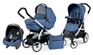 Коляска 3 в 1 Peg-Perego Book Plus 51 Set Modular Sportivo (шасси White) Mod Bluette