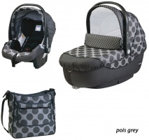 Коляска 3 в 1 Peg-Perego Set Modular Pois grey