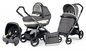 Коляска 3 в 1 Peg-Perego Book Plus S Set Modular Pop Up (шасси Jet) Ascot