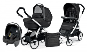 Коляска 3 в 1 Peg-Perego Book Plus 51 Set Modular Sportivo (шасси White) Mod Black