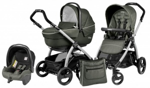 Коляска 3 в 1 Peg-Perego Book Plus Set Modular Sportivo (шасси Silver) Timo