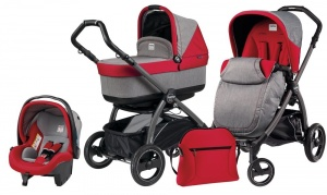 Коляска 3 в 1 Peg-Perego Book Plus S Set Modular Pop Up (шасси Jet) Tulip