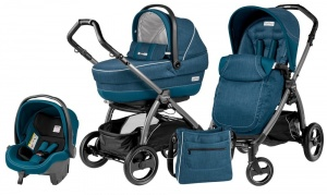 Коляска 3 в 1 Peg-Perego Book Plus S Set Modular Pop Up (шасси Jet) Saxony Blue