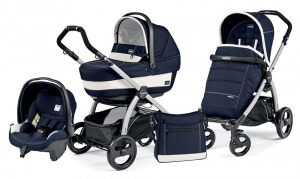 Коляска 3 в 1 Peg-Perego Book Plus Set Modular Pop-Up (шасси Silver) Riviera