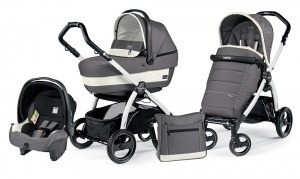 Детская коляска 3 в 1 Peg-Perego Book Plus S Pop-Up Set Modular (шасси White) Ascot