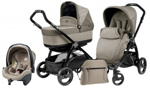 Коляска 3 в 1 Peg-Perego Book Plus Set Modular Pop-Up (шасси Black) Cream