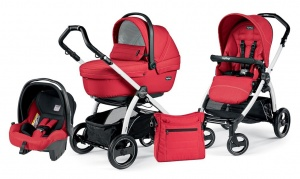 Детская коляска 3 в 1 Peg-Perego Book Plus S Sportivo Set Modular (шасси White) Mod Red