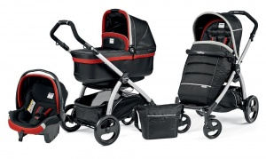 Коляска 3 в 1 Peg-Perego Book Plus Set Modular Pop-Up (шасси Silver) Synergy