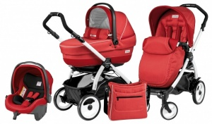 Коляска 3 в 1 Peg-Perego Book Plus 51 Set Modular Pop Up (шасси White) Sunset