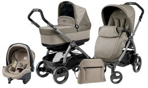 Коляска 3 в 1 Peg-Perego Book Plus 51 Pop Up Set Modular (шасси Jet) Cream