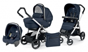 Детская коляска 3 в 1 Peg-Perego Book Plus S Sportivo Set Modular (шасси White) Mod Navy
