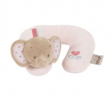 Игрушка мягкая Nattou Подголовник Neck pillow Charlotte & Rose Слоник