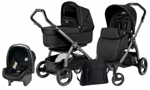 Коляска 3 в 1 Peg-Perego Book Plus Set Modular Pop-Up (шасси Silver) Onyx