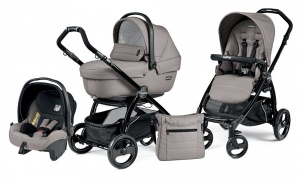Коляска 3 в 1 Peg-Perego Book Plus Set Modular Sportivo (шасси Black) Mod Beige