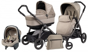 Коляска 3 в 1 Peg-Perego Book Plus S Set Modular Pop Up (шасси Jet) Cream