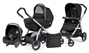 Коляска 3 в 1 Peg-Perego Book Plus Set Modular Sportivo (шасси Silver) Mod Black