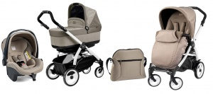 Коляска 3 в 1 Peg-Perego Book Plus 51 Set Modular Pop Up (шасси White) Cream