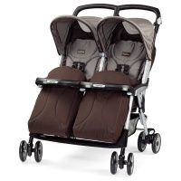 Коляска для двойни Peg-Perego Aria Twin Chocolate