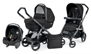 Коляска 3 в 1 Peg-Perego Book Plus 51 Set Modular Sportivo (шасси Jet) Mod Black