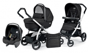 Детская коляска 3 в 1 Peg-Perego Book Plus S Sportivo Set Modular (шасси White) Mod Black