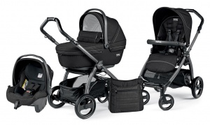 Детская коляска 3 в 1 Peg-Perego Book Plus S Sportivo Set Modular (шасси Jet) Mod Black