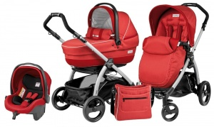 Коляска 3 в 1 Peg-Perego Book Plus Set Modular Pop-Up (шасси Silver) Sunset