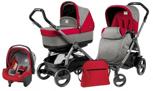 Коляска 3 в 1 Peg-Perego Book Plus 51 Pop Up Set Modular (шасси Jet) Tulip