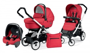 Коляска 3 в 1 Peg-Perego Book Plus 51 Set Modular Sportivo (шасси White) Mod Red