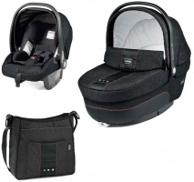 Коляска 3 в 1 Peg-Perego Set Modular Denim black