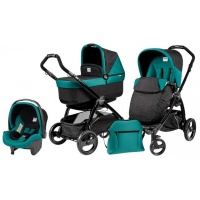 Коляска 3 в 1 Peg-Perego Book Plus Set Modular Pop-Up (шасси Black) Aquamarine