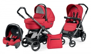 Коляска 3 в 1 Peg-Perego Book Plus 51 Set Modular Sportivo (шасси Jet) Mod Red