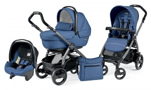 Коляска 3 в 1 Peg-Perego Book Plus 51 Set Modular Sportivo (шасси Jet) Mod Bluette