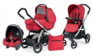 Коляска 3 в 1 Peg-Perego Book Plus Set Modular Sportivo (шасси Silver) Mod Red