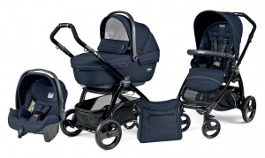 Коляска 3 в 1 Peg-Perego Book Plus Set Modular Sportivo (шасси Black) Mod Navy